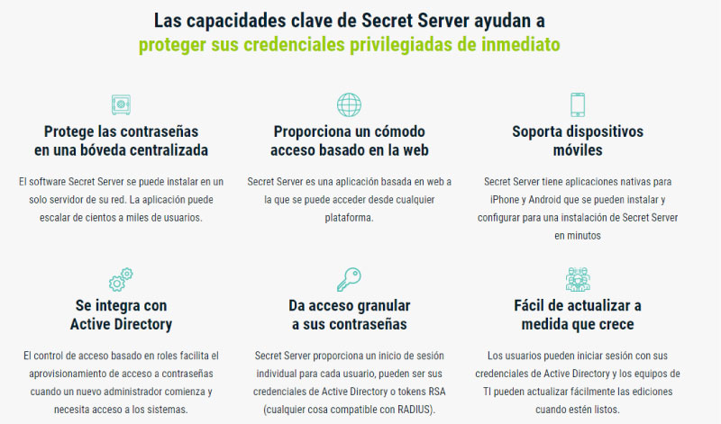 thycotic secret server chile